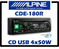 Auto Rádio Alpine CDE-180R com CD/MP3 /USB